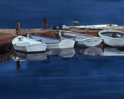 Boats at Dock 18x40