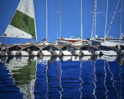 Boats with Reflections 25x40